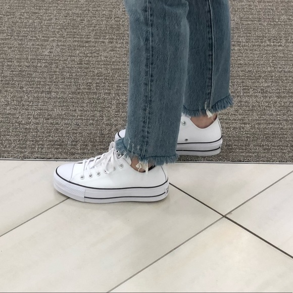 2converse lift leather